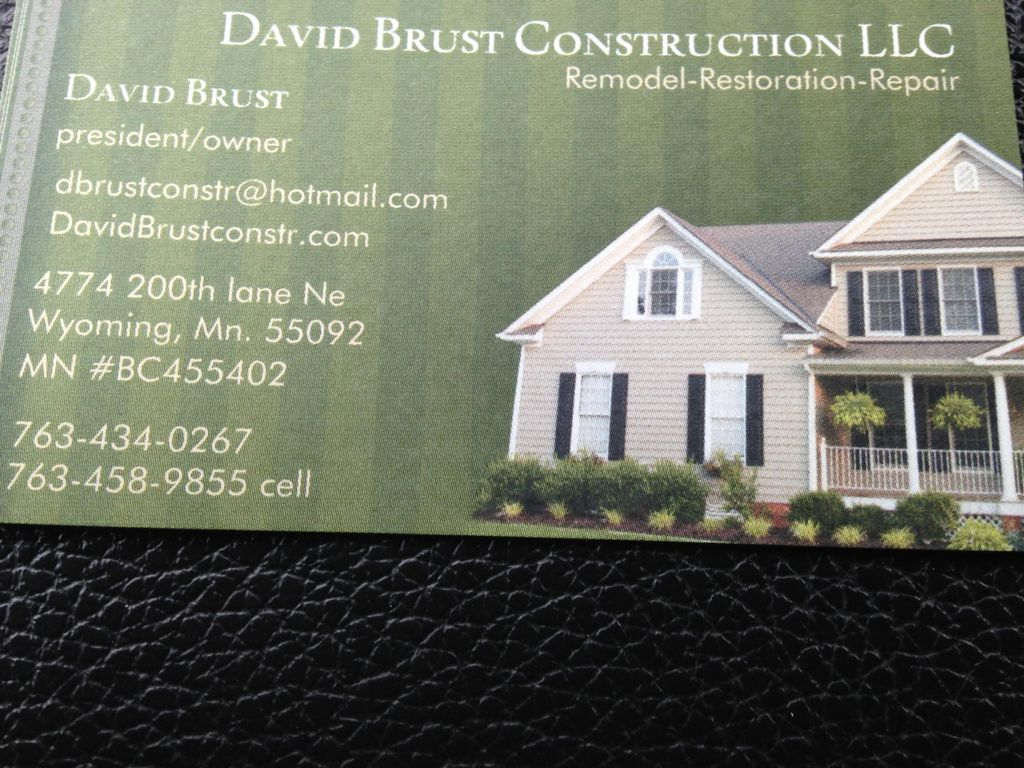 David Brust Construction and Handyman services