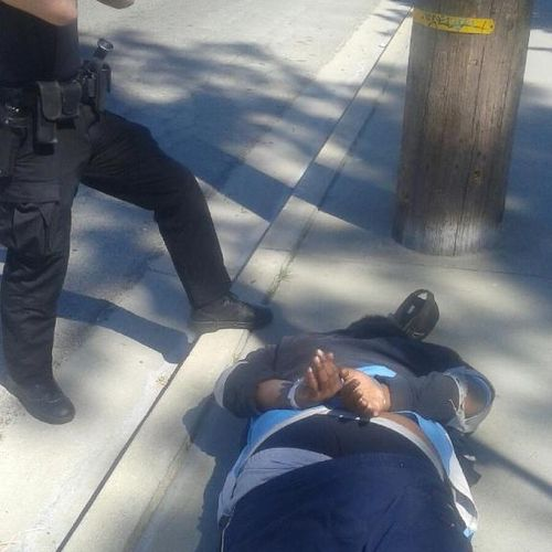 ASP patrol officer arrests residential burglary suspect at apartment complex.