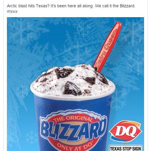 Facebook ad campaign for Texas Dairy Queen