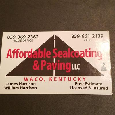 Avatar for Affordable sealcoating and paving,LLC Waco, KY Thumbtack