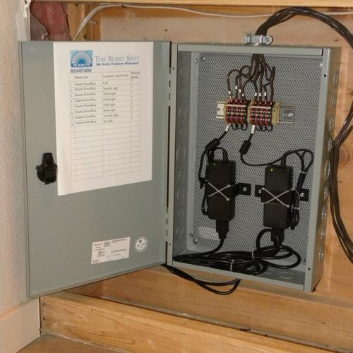 hard-wired power panel