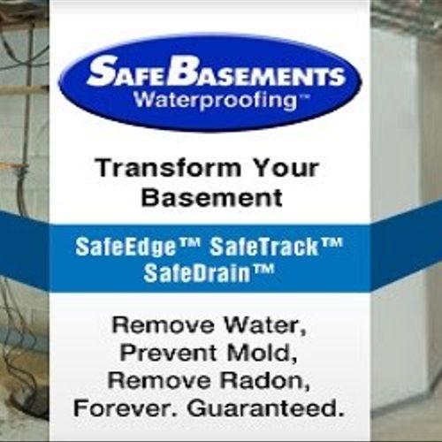 We are a Safe Basements National Dealer!