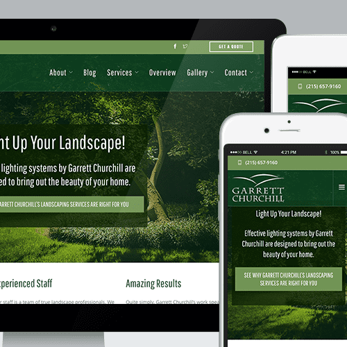 This client is a local landscape architect that features great video, blog content, and more.