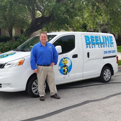 Our owner Tyler who started Beeline pest control in 1996.