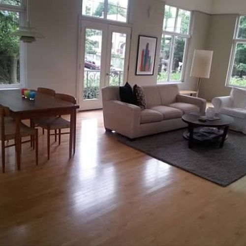 Living and dining area cleaning