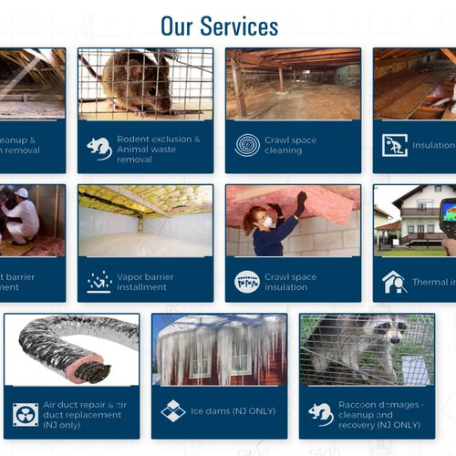 Our services , We can help with your attic and crawlspace needs.