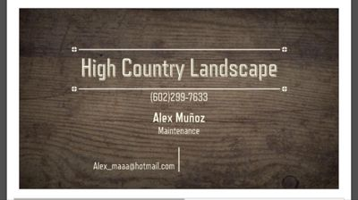 Avatar for High Country Landscape