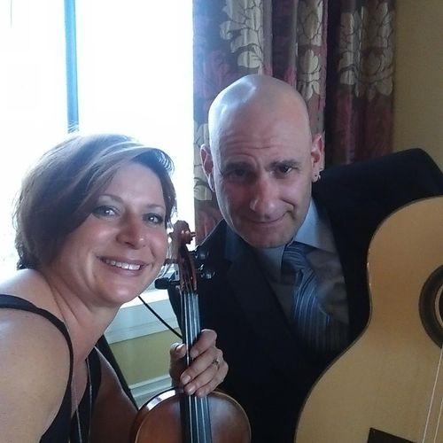 Denys - violin, Matthew - guitar