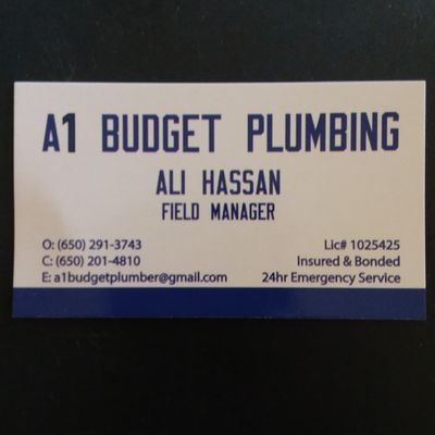 Avatar for A1 Budget Plumbing Burlingame, CA Thumbtack