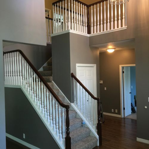2- tone railings   After