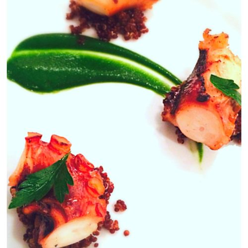 Octopus with Quinoa and Parsley