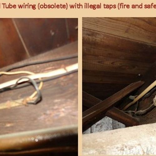 Knob and Tube - many people have never heard of this old style wiring system.  This can complicate any purchase.