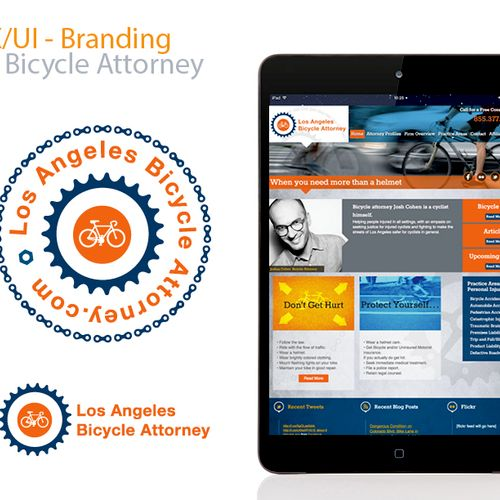 Promotional website and branding for personal injury attorney.