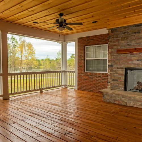 Screened In Porch Staining & Painting
