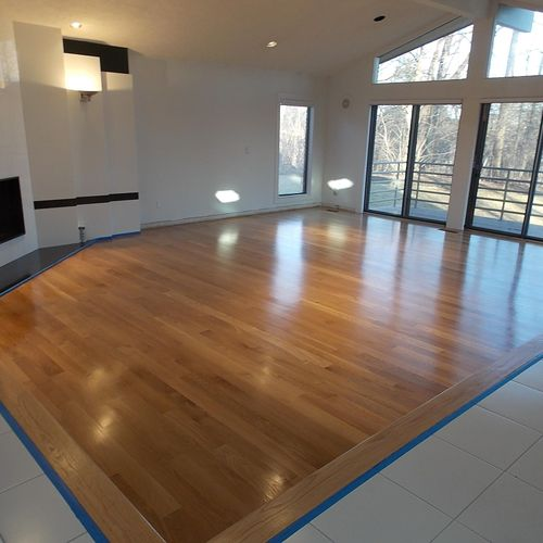 Bloomfield Hills- Northern White Oak, custom installation and natural finish.