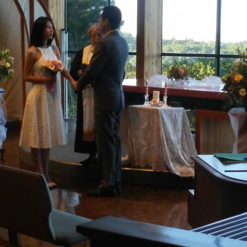beautiful intimate chappel wedding