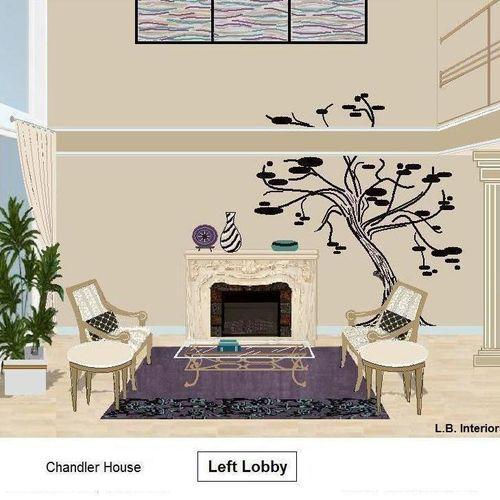 Design Rendering. Left Lobby Chandler Building, Sherman Oaks, Ca.