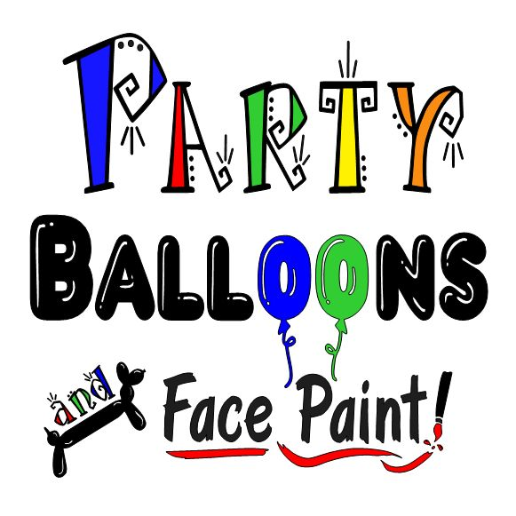 Party Balloons and Face Paint