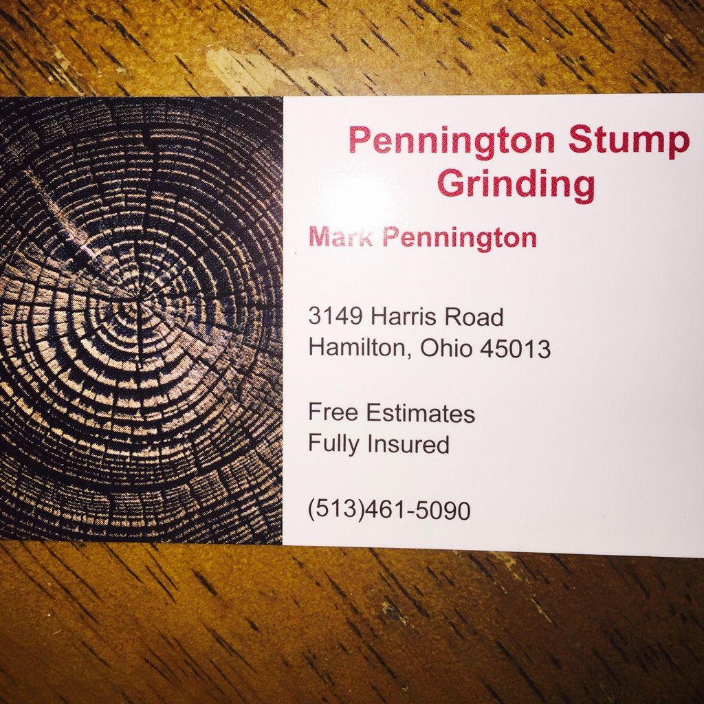 Pennington stump grinding