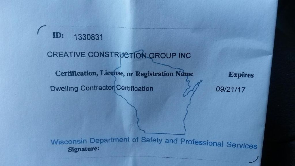 Creative Construction Group Inc.