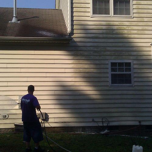 Call us for our Soft House wash on your vinyl siding. All work is guaranteed!