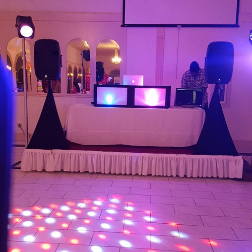 Sweet 16 set up at Barrister House.
