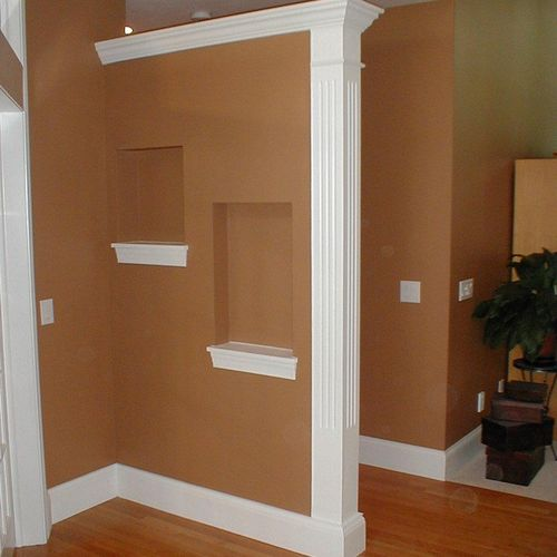 FINISH - Base Trim, CaSings, Pilasters, Sills & Aprons, Crown Moulding
