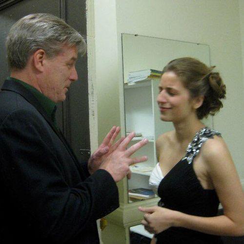With Mezzo Melanie Ashkar just prior to her Distinguished Majors Recital
