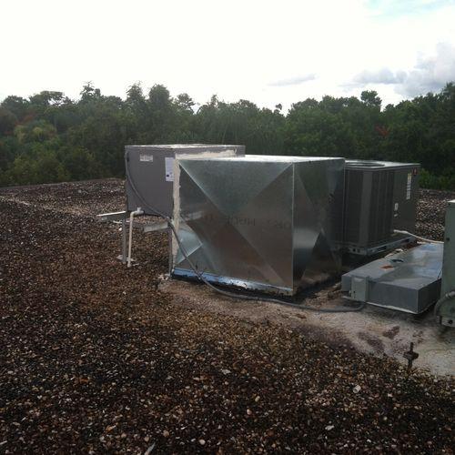 Rooftop installation for condo unit.