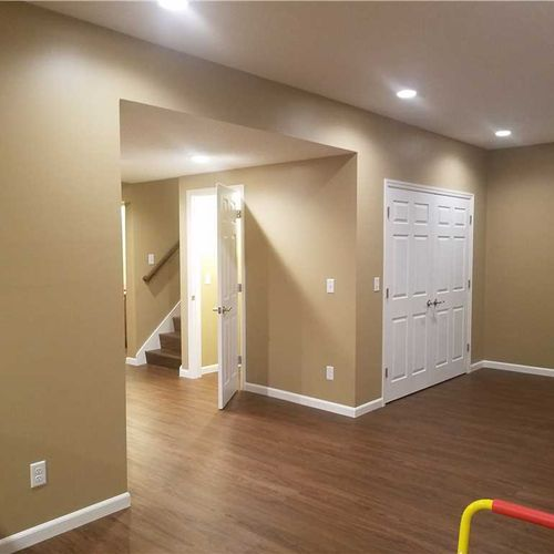 A few finishing touches, using our Total Basement Finishing™ system, is just what your basement needs to feel more comfortable.
