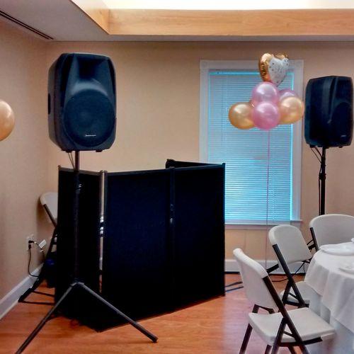 My typical DJ booth setup
