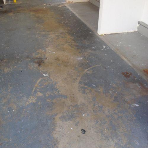 Before garage floor