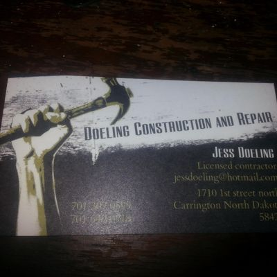 Avatar for Doeling construction and repair Carrington, ND Thumbtack