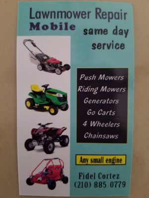 Avatar for Mobile Lawnmower Repair San Antonio, TX Thumbtack