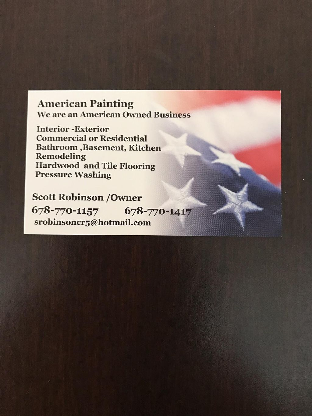 American painting and home repairs