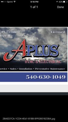 Avatar for APLUS HVAC LLC Winchester, VA Thumbtack