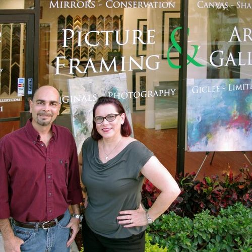 Owners Julio & Kathy welcome you to Picture Framing & Art Gallery!