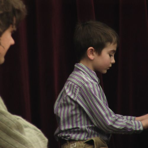 One of my students at a recent recital.