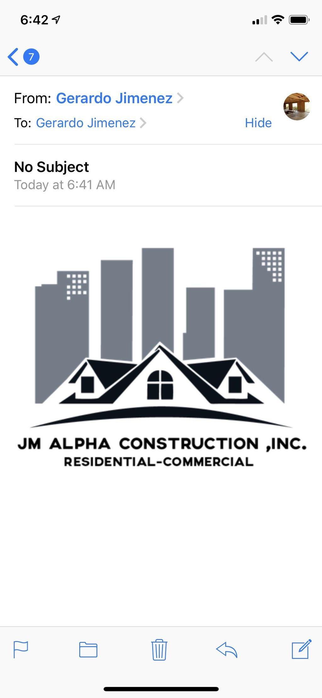 Jm Alpha Construction Inc