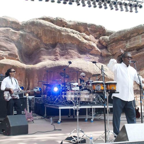 Jeff performing at Red Rocks Amphitheatre