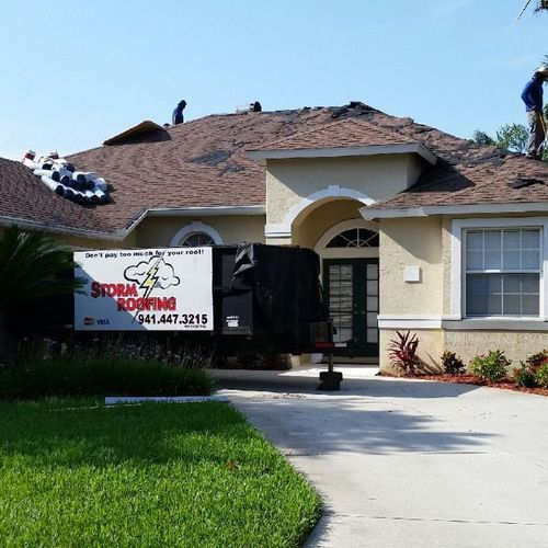 Sarasota Roofing Contractor Replacement Shingle Roof