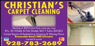 Avatar for Christian's Carpet Cleaning Yuma, AZ Thumbtack