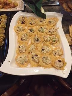 Chicken Salad in Parmesan cups
