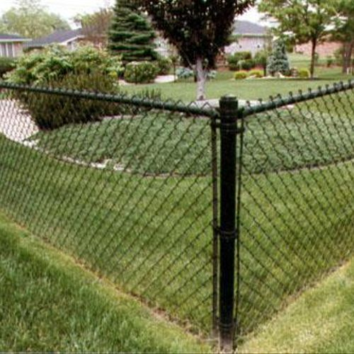 Chain Link is available in Black, Green, White or Brown Vinyl Coated.