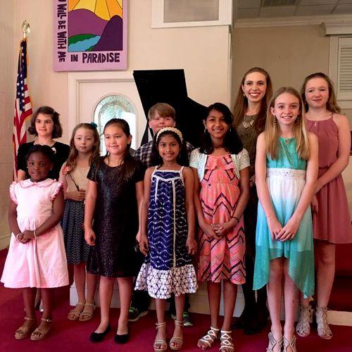 4/1/17 Studio recital at Swift Creek Baptist Church