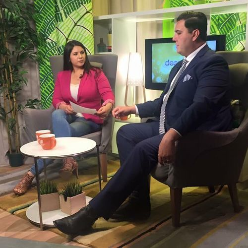 Head immigration attorney, Diego Rodriguez, speaking on the news.