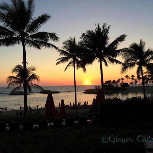 Sunset at Aulani from Amu Amu Restaurant