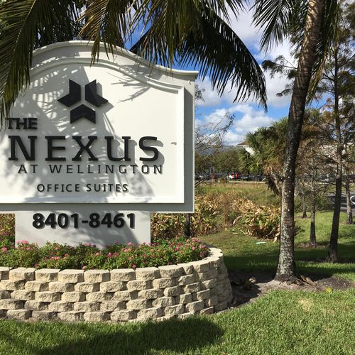 """Main office is located at the """"Nexus at Wellington"""" in the City of Lake Worth"""