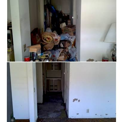 Before and After Our Crew got rid of All the Clutter.