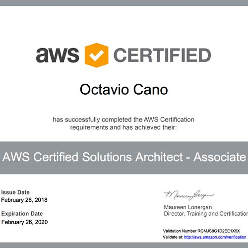 AWS Architecture Certification